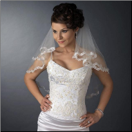 Kingswood Double Layer Lace Edge Shoulder Length Wedding Veil