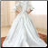 Lace-up Satin Off the Shoulder Ballgown for Muslim Bride - back of wedding gown