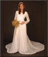 Long Lace Maternity Wedding Dress for Mother-to-be