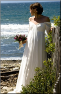 Long Sleeved Chiffon Empire Line Maternity Bridal Gown