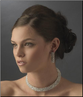 Countess of Derby Collar Style Necklace and Earrings Set