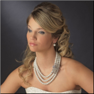 Duchess of Buckingham Pearl Necklace and Earrings Set