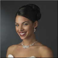 Lady Marian Crystal and Pearl Necklace and Earrings Set