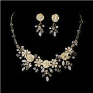 Lady Anne Neville Necklace and Earring Jewellery Set