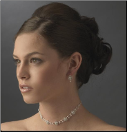 Countess of Oxford Silver Pearl Choker and Earrings Set