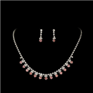Lady Patricia Rhinestone Necklace & Earring Jewelry Set