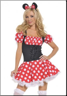 Cute Retro Minnie Mouse Costume
