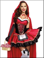 Adorable Seductive Little Red Riding Hood Costume