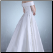 Off-the-shoulder Satin Lace-Up Wedding Dress - back of gown