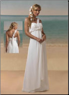 One Shoulder Chiffon Beach Wedding Dress
