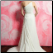 One Shoulder Chiffon Wedding Dress showing back of gown