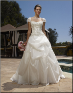 Organza Sweetheart Neckline Wedding Gown