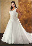 Organza over Satin Wedding Gown