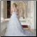 Plus Size Organza over Satin Wedding Ballgown showing back of gown and train