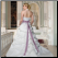 Plus Size Satin Halter Neckline back of gown showing elegant skirt and train