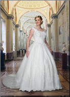 Plus Size Satin and Lace Ballgown