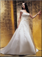 Princess Style Satin Bridal Gown