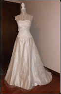 Princess Style Tulle over Satin Wedding Gown  size 10