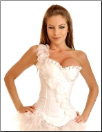 Pretty Floral One-Shoulder Underwire Fashion Corset