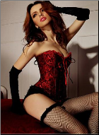 Voluptuous Goddess Burlesque Corset with Sweetheart Bodice