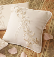 Ivory Lily Bridal Ring Bearers Pillow