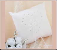 Spanish Embroidered Ring Bearer Pillow