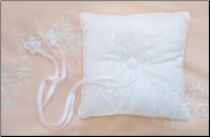Elegantly Embroidered Ring Bearer Pillow