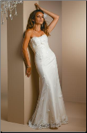 Romantic Embroidered Tulle over Satin Wedding Dress