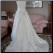 Romantic Off-the-Shoulder Satin Bridal Gown showing back of gown and train