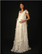 Romantic Organza Empire Line Maternity Wedding Dress