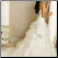 Strapless Organza Bateau Neckline Wedding Ballgown showing back of gown and train