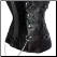 Gothic Steampunk One-Shoulder Over-Bust Corset