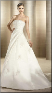 Satin and Lace Wedding Gown
