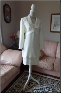 Satin-edged Ivory Algo brand Suit size 8