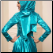 Shimmering Satin Long Sleeve Gown with Hijab for Muslim Bride, close up of back of gown