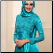 Shimmering Satin Long Sleeve Gown with Hijab for Muslim Bride, close up of bodice