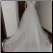 Simple Satin and Organza Wedding Ballgown in stock size 12 showing back of gown