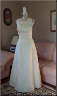 Sleeveless Embroidered Bridal Originals Gown size 14