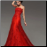 Spectacular Sheath Wedding Gown with Embroidered Organza Overlay shown in red