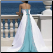 Strapless A Line Satin Wedding Dress - shown here in Turquoise