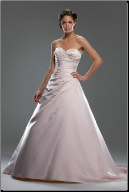 Classic Princess Style Satin Wedding Gown
