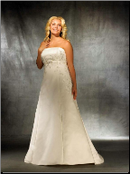 Plus Size Empire Line Wedding Gown