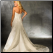 Plus Size Empire Line Wedding Gown showing the elegant back and train