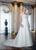 Plus Size Satin and Chiffon Wedding Dress