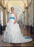 Strapless Satin Plus Size Wedding Ball Gown