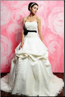 Strapless Satin Wedding Ballgown