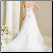 Elegant Satin and Lace Wedding Dress - back of gown showing train