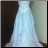 Strapless White Wedding Gown with Sequins and Ruffles in stock - back of gown