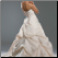 Back of elegant and Stylish Taffeta and Lace Bridal Gown