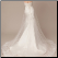 Spectacular Sheath Wedding Gown with Embroidered Organza Overlay - back of gown